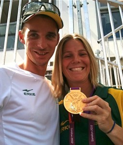 I met several athletes at the Olympics, including James Thompson, Olympic Gold Medal Winner.